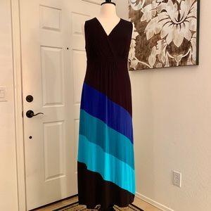 Catherine's Plus Size Color Block Maxi Dress